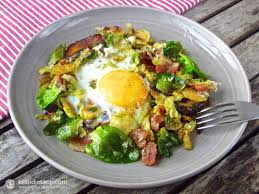 martini bacon brussels sprout and bacon hash