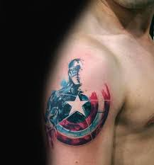 captain america tattoo captain america shield tattoo pinteres