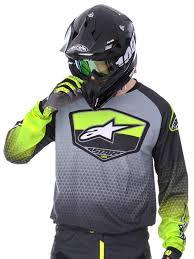 green motocross gear alpinestars fluorescent yellow grey 2017 racer supermatic mx