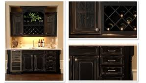 Corner Wine Cabinets Retro Design Black Wooden Corner Wine Cabinet Ideas With Molding