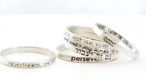 inspirational rings personalized dainty stacking rings inspirational ring