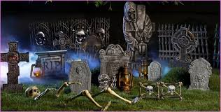 graveyard halloween decorations templates