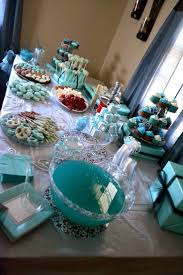 breakfast at tiffany u0027s themed bridal shower dessert table