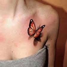 3d baby footprint butterfly images tattoo for women design idea