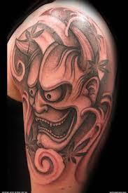 marvelous tattoo of hannya mask on shoulder tattooshunter com