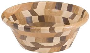 wooden bowl decorative mixed wood bowl style