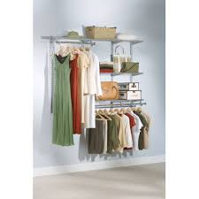 rubbermaid 3 6 ft configurations custom closet kit white with