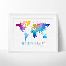 Borderless World Map by To Travel Is To Live