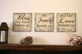 home decor kitchen bless the food before us wood wallhanging wood kitchen sign wood