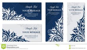 Invitation Cards Business Vector Floral Vintage Invitation Cards Business Cards Or Announ