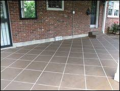 painting a faux slate walkway on concrete slate walkway