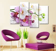 compare prices on beautiful wall art online shopping buy low beautiful butterfly orchid 4 panels hd canvas painting artwork wall art modular pictures unframed wall pictures