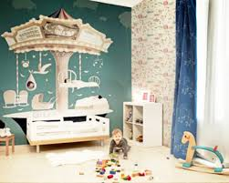 Kids Room  Modern Children Wallpaper With Birds Singing Pattern - Kid room wallpaper