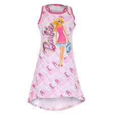barbie shopping trip kids dress light pink mega t shirt store