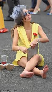 racegoers can t contain themselves as the racing hots up