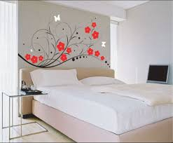 Room Painting Designs Walls by Flowery Wall Pattern Ideas Closed Plain Pillow On Simple Double