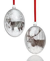 2017 glass animal ornament 2 pc set created for