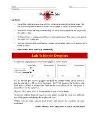blood spatter lab