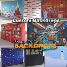 custom photo backdrops 17 foot wide custom printed fabric stage backdrop display