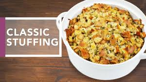 stuffing casserole recipe thanksgiving classic stuffing recipe holidays 2016 youtube