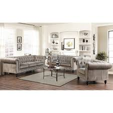 Grey Velvet Sofa by Abbyson Emily Tufted Sofa Hayneedle
