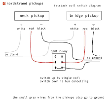 pickup wiring diagrams and schematics nordstrand audio