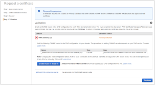 use dns to validate domain ownership aws certificate manager