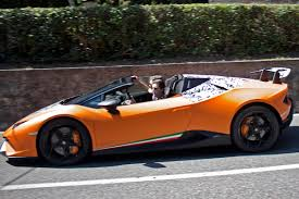 used lamborghini huracan 631bhp lamborghini huracan performante spied as spyder drop top