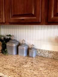 Diy Wainscoting Backsplash Magnificent Brown Wooden Cabinets With White Beadboard Backsplash As