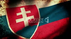 Slovak Flag Slovakia Flag Waving Grunge Look Royalty Free Video And Stock