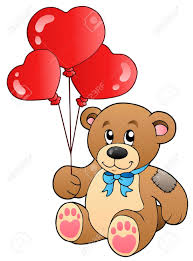 teddy balloons teddy with balloons royalty free cliparts vectors and