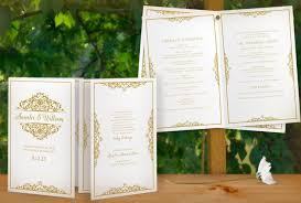 sale diy printable wedding program template instant download