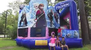 bounce house rentals houston disney frozen 5in1 houston moonwalk rental