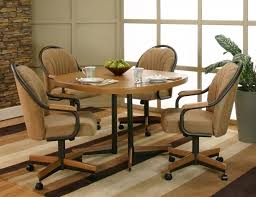 kitchen chairs with rollers and dining room apartment decor in