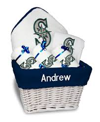 Seattle Gift Baskets Personalized Seattle Mariners Medium Gift Basket Mlb Baby Gift