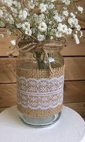 Vintage Wedding Centerpieces 10 X Glass Jars Vases Vintage Wedding Centrepiece Shabby