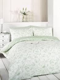 Quilt Cover Vs Duvet Cover Signature Home Bird Toile Duvet Cover Set And 2 Pillowcase Green