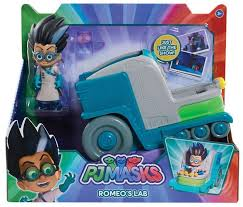 disney junior pj masks romeos lab vehicle figure play toywiz