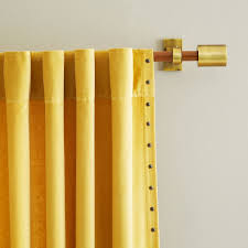 Curtains And Rods Mid Century Wooden Rod West Elm
