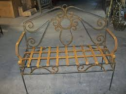 Cast Iron Loveseat Furniture Custom Wrought Iron Bench For Your Garden Furniture