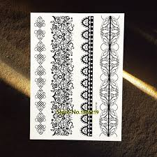 fake black henna temporary tattoo bracelet jewelry paste 21x15cm
