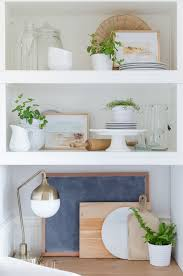 how to style open shelving in the kitchen a burst of beautiful