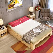 Cheap Childrens Bed Double Wooden Bed Wood Bed Pine Single Bed Tatami Bed Childrens