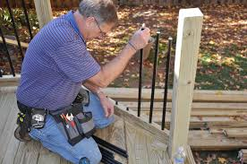 What Is A Banister On Stairs Decks Com Deck Railing Balusters
