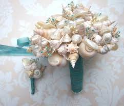 wedding bouquets with seashells bridal bouquet wedding ideas