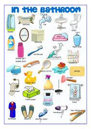 42 free esl bathroom worksheets