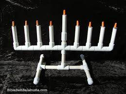 pvc menorah kit for kids revised bible belt balabusta