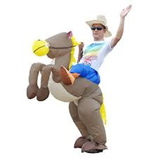 Cowboy Halloween Costumes Amazon Inflatable Cowboy Riding Animal Halloween Costume