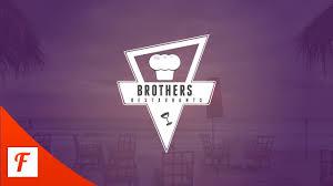 photoshop tutorial restaurant logo design youtube