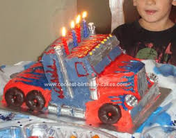 optimus prime cake topper coolest optimus prime truck birthday cake